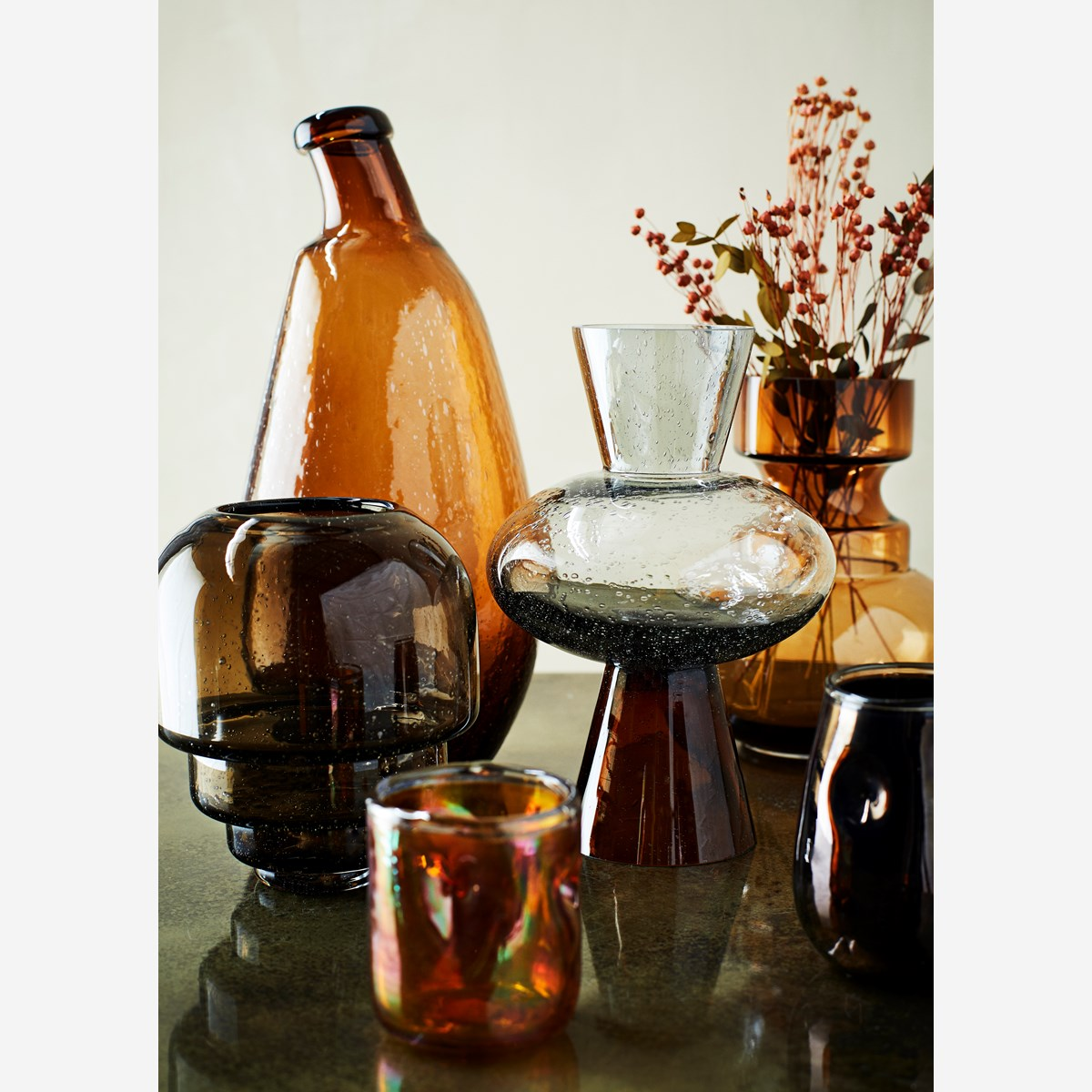 Organic Shaped Glass Vase