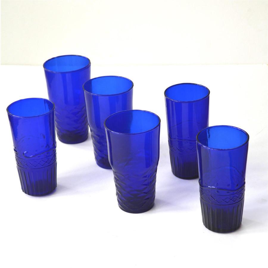Freya Water Glasses (set of 6) Blue by Dassie Artisan