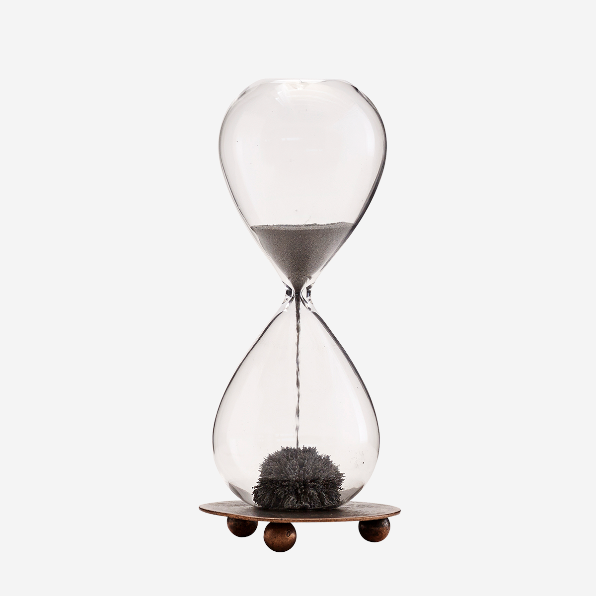 Hourglass w/ Magnet and Tray by Madam Stoltz