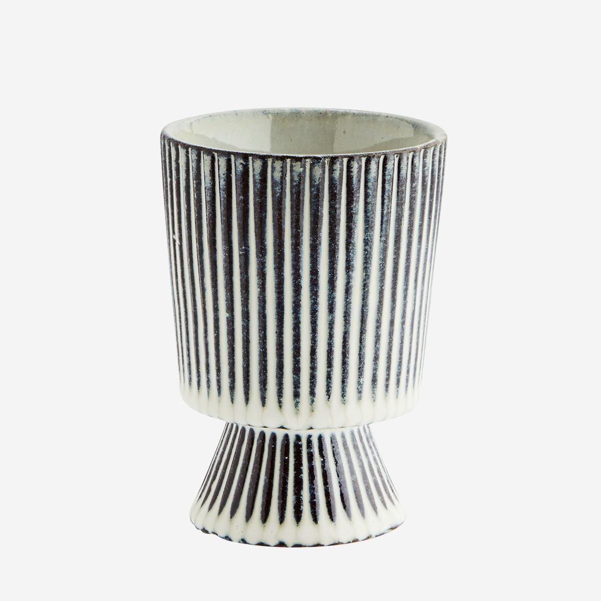 Striped Flower Pot