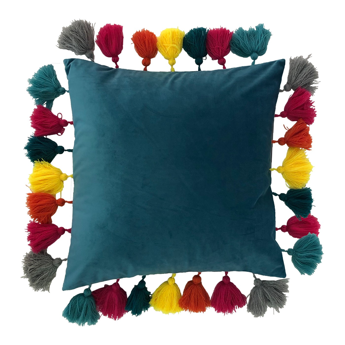 Tassels Cushion, Ocean by Paoletti