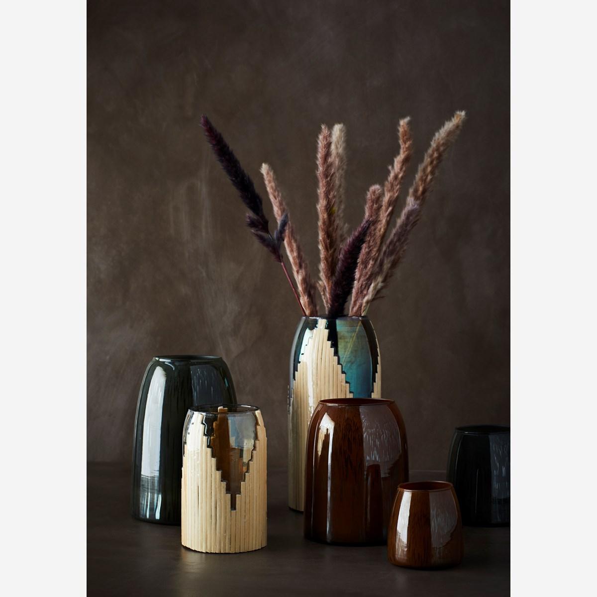 Rust Glass Vase