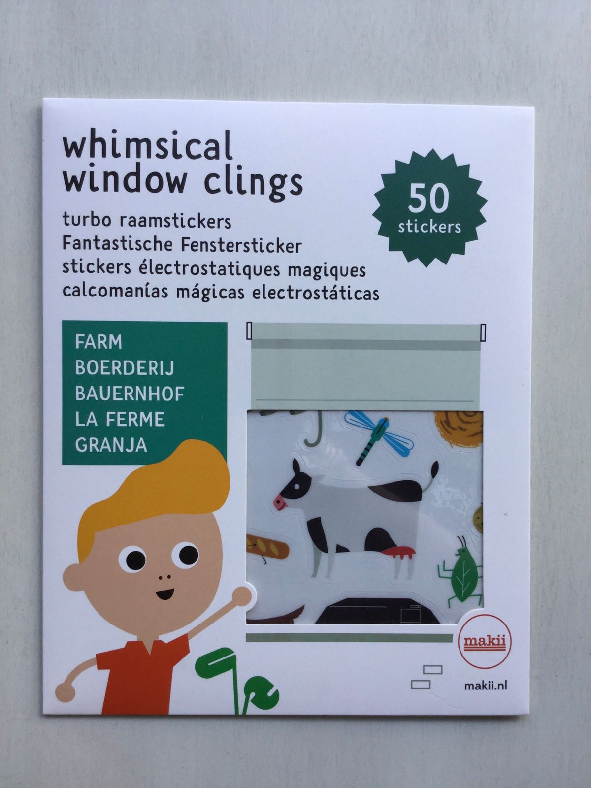 Makii - Whimsical window clings - Farm