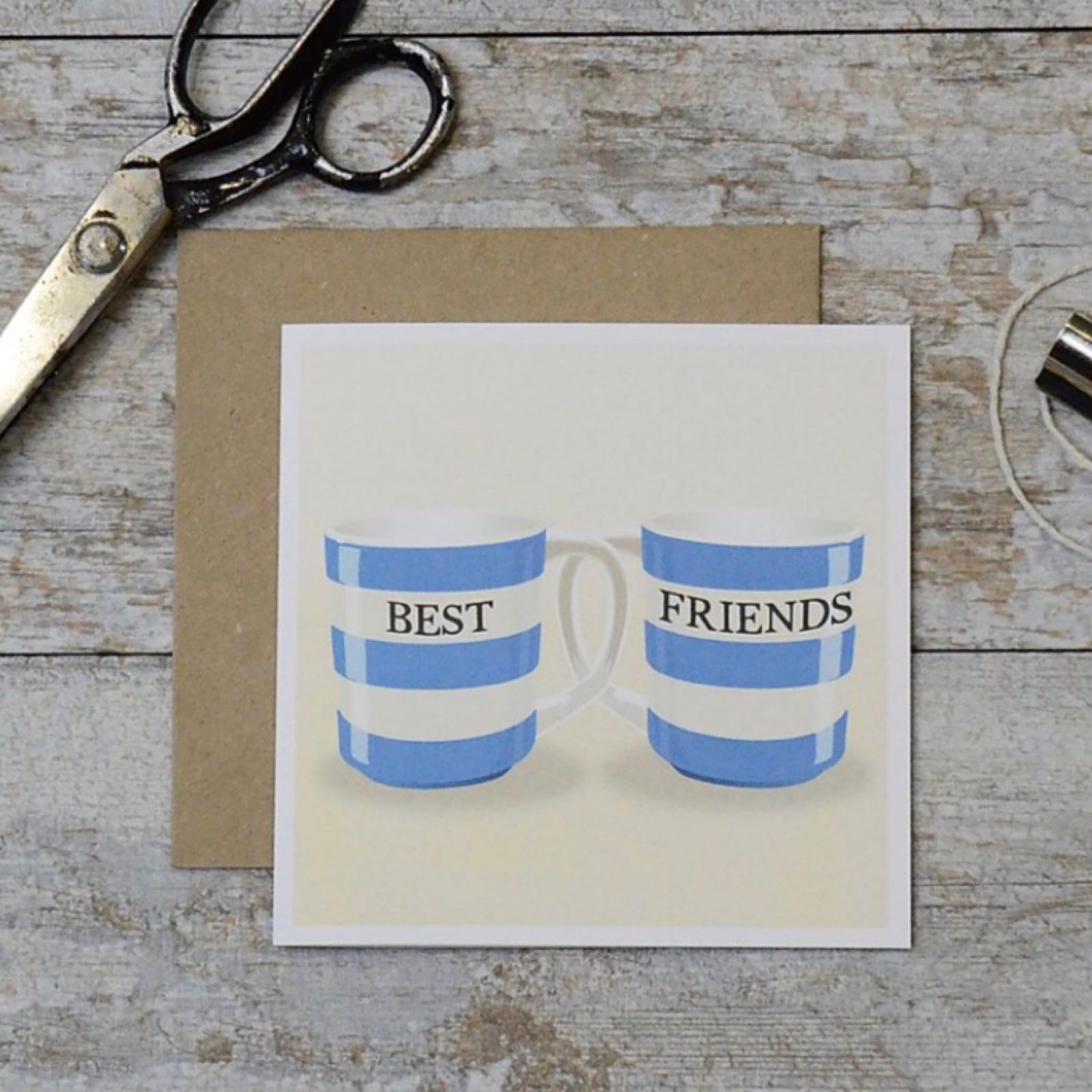'Best Friends Mugs' Corniche Card