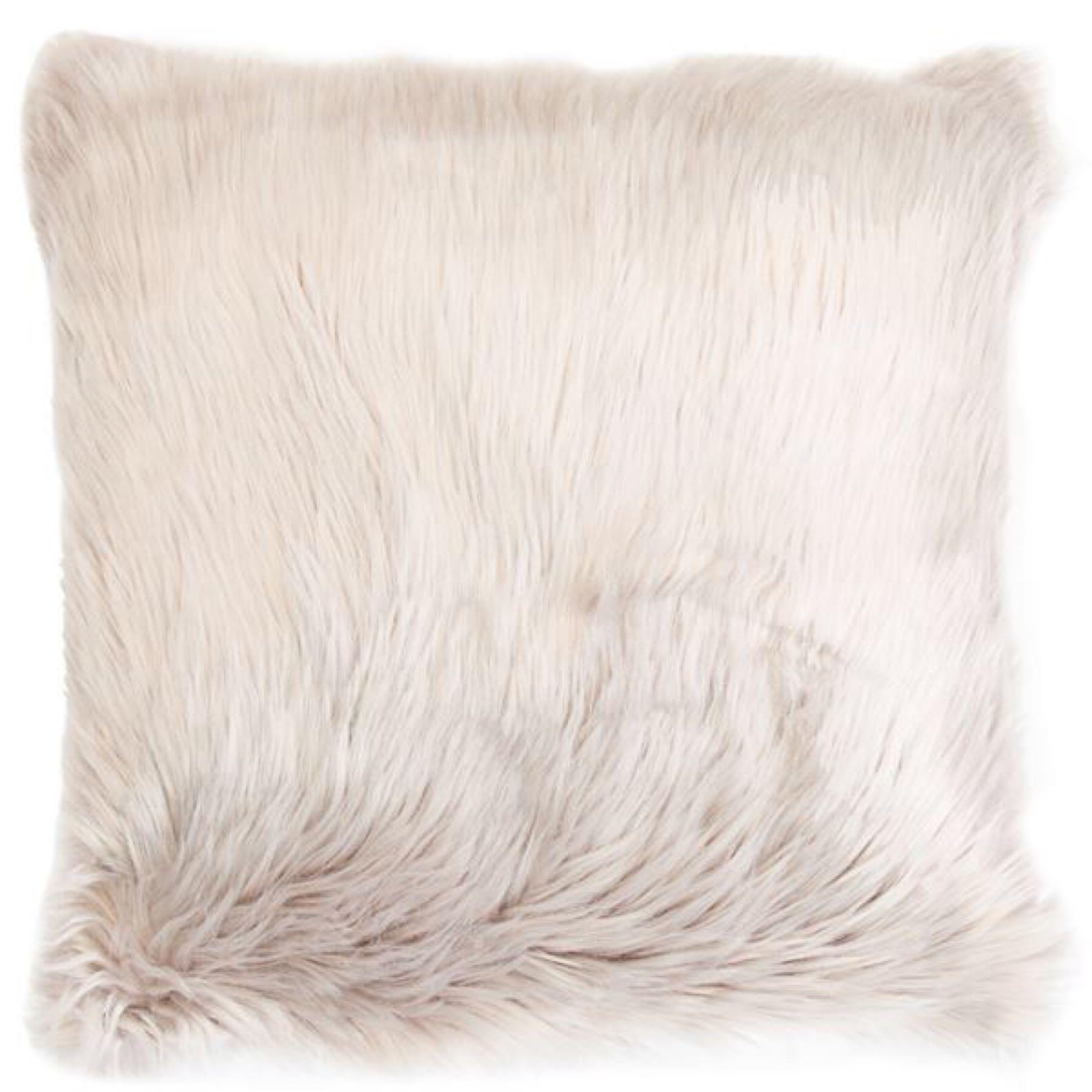 Faux Sheepskin Cushion - Taupe