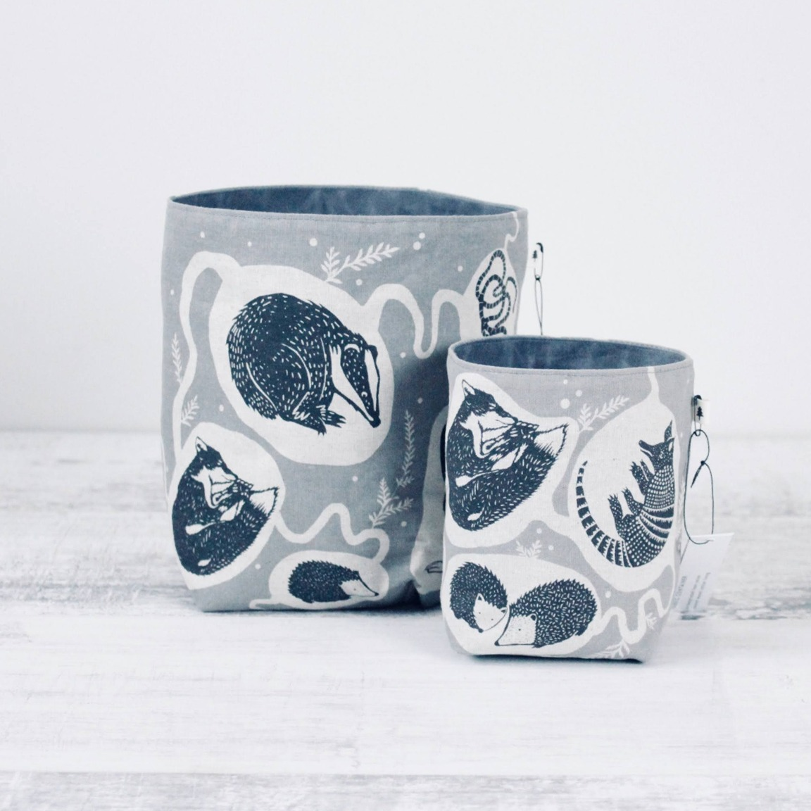 Screen Printed Fabric Containers - Burrows