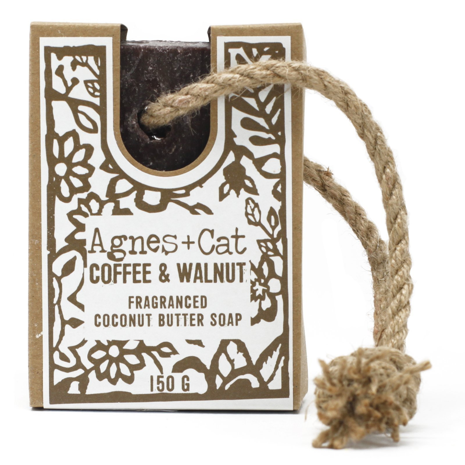 Coffee & Walnut Soap on a Rope