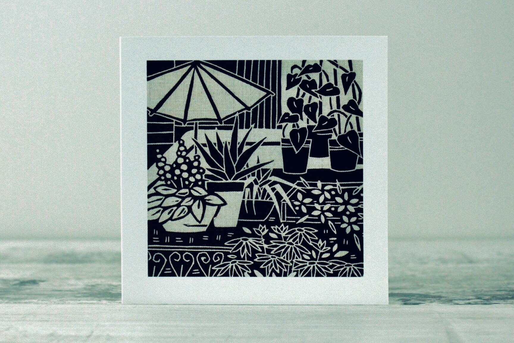 Roof Garden Card by Algan Arts