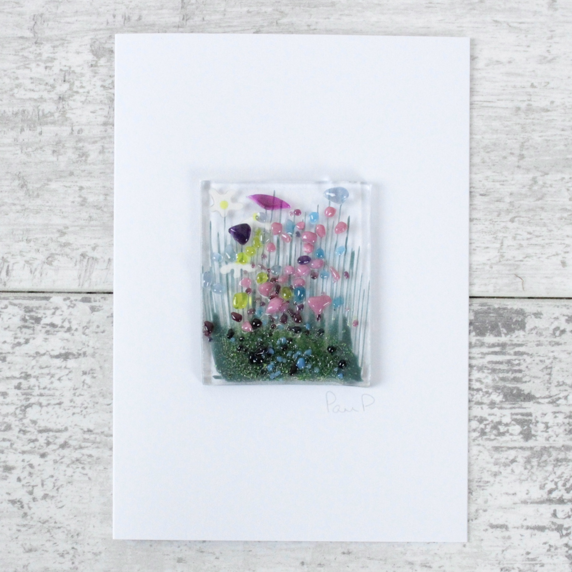 Wildflowers - Fused Glass Cards