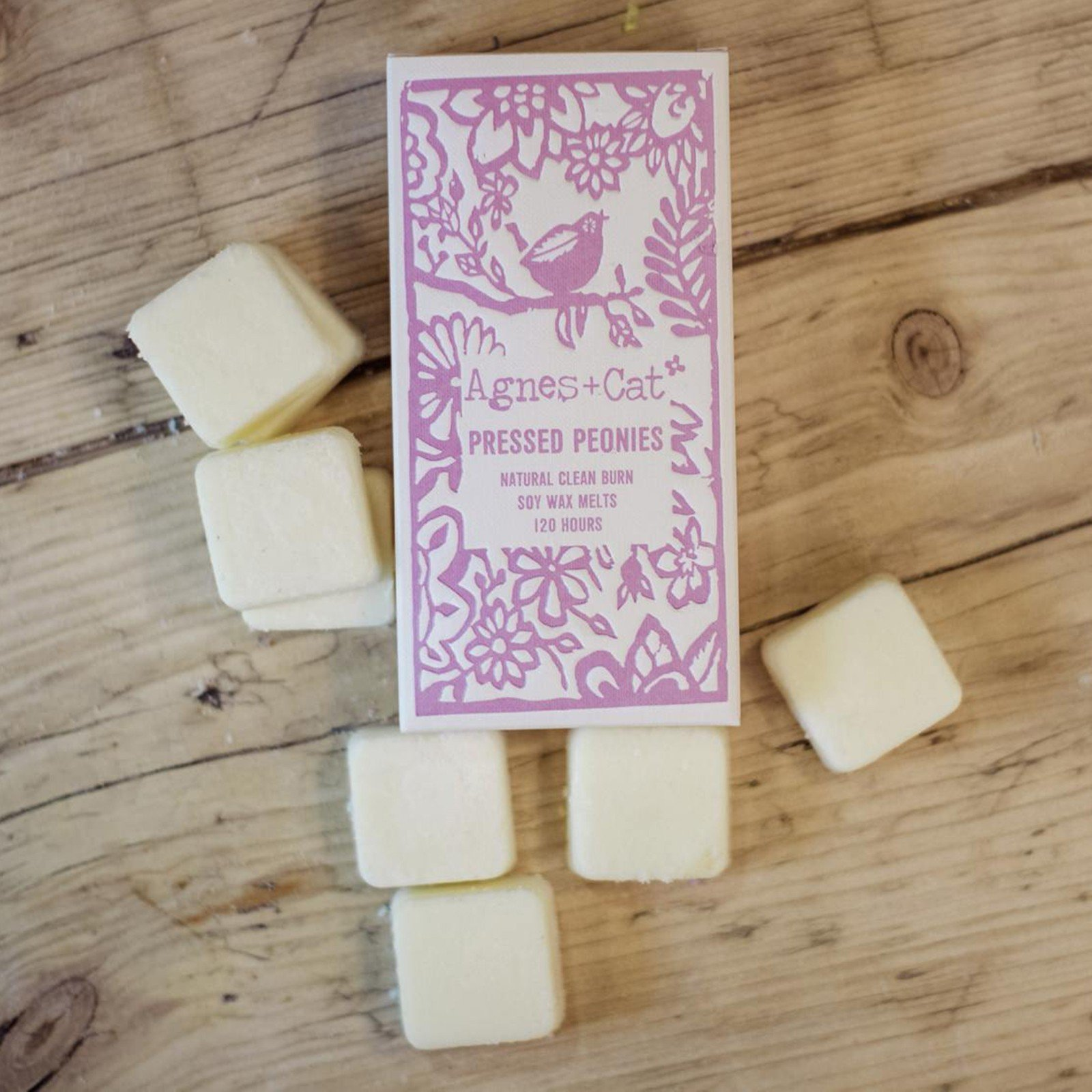 Pressed Peony Wax Melts by Agnes & Cat