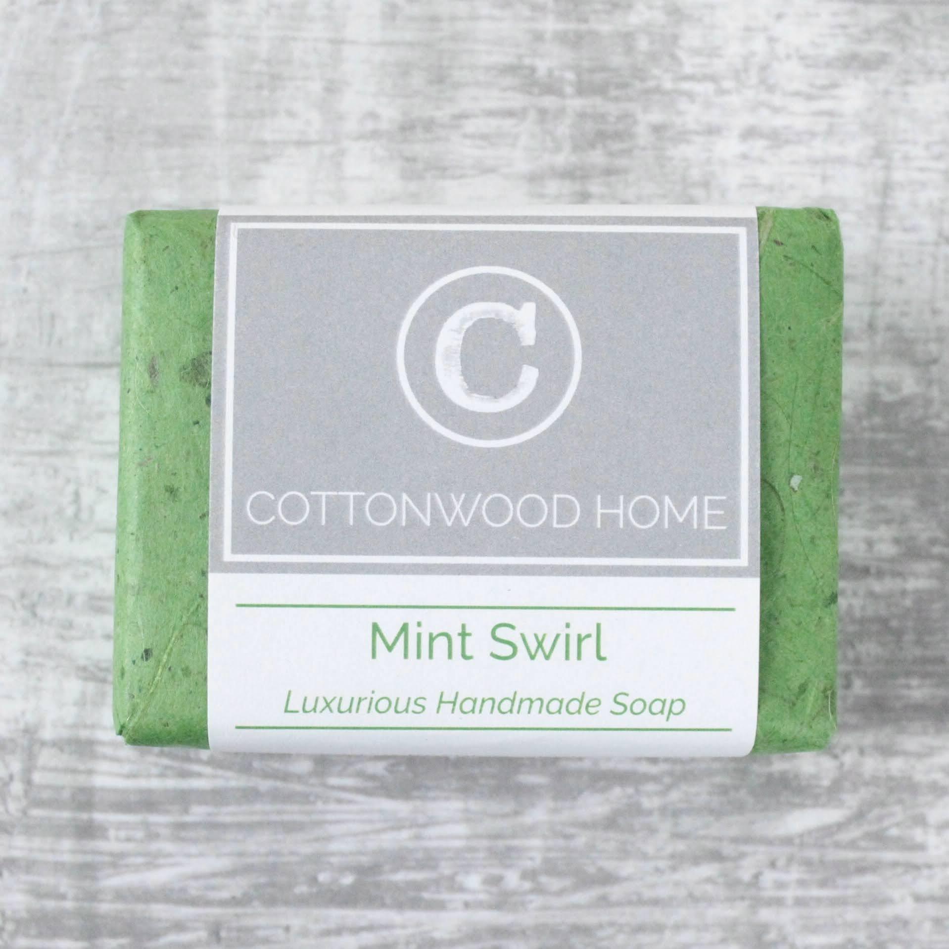 Cottonwood Soap - Mint Swirl