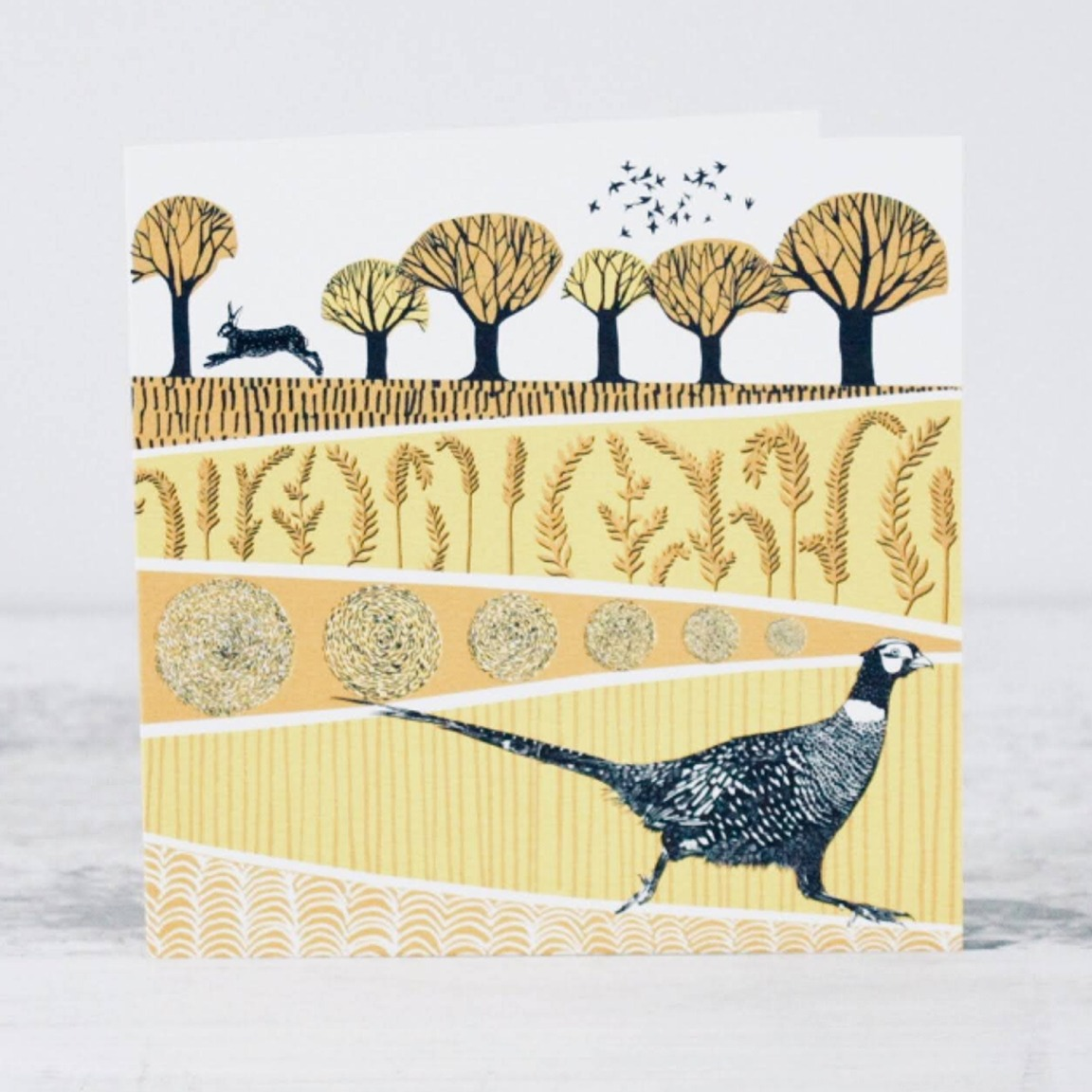 Pheasant Card by Folded Forest