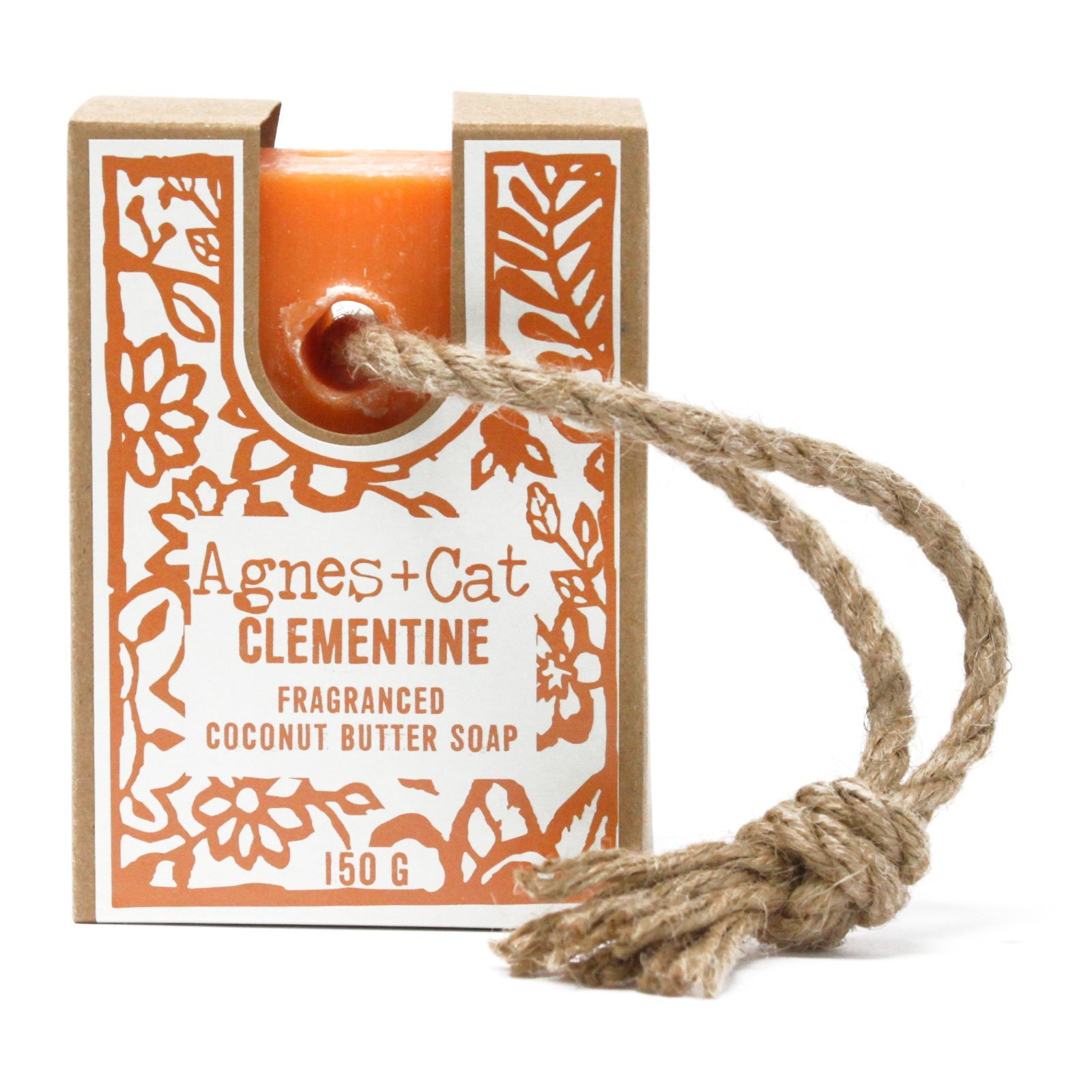 Clementine Soap on a Rope