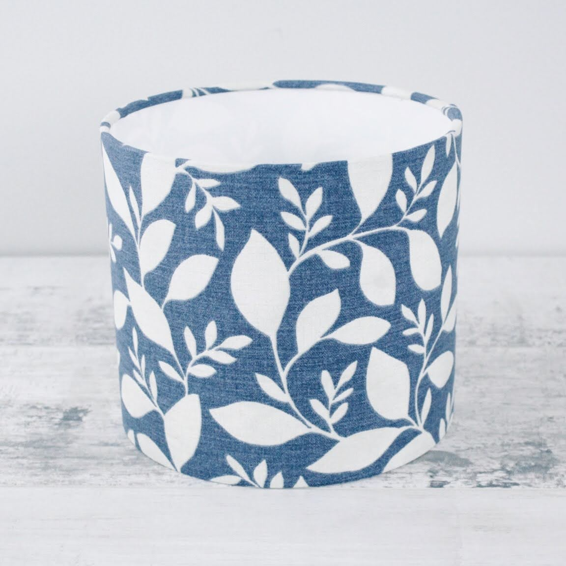 Leaves Blue - 20cm Fabric Lampshade
