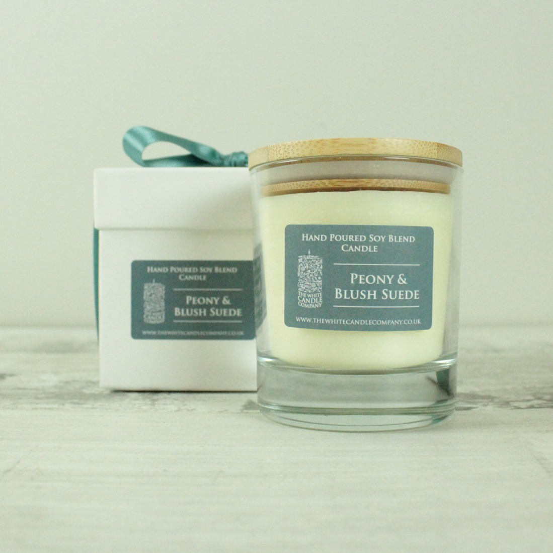 Peony Blush Suede Scented Candle - 50hrs