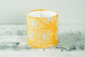 Whitehaven Bird Yellow - 15cm Fabric Lampshade