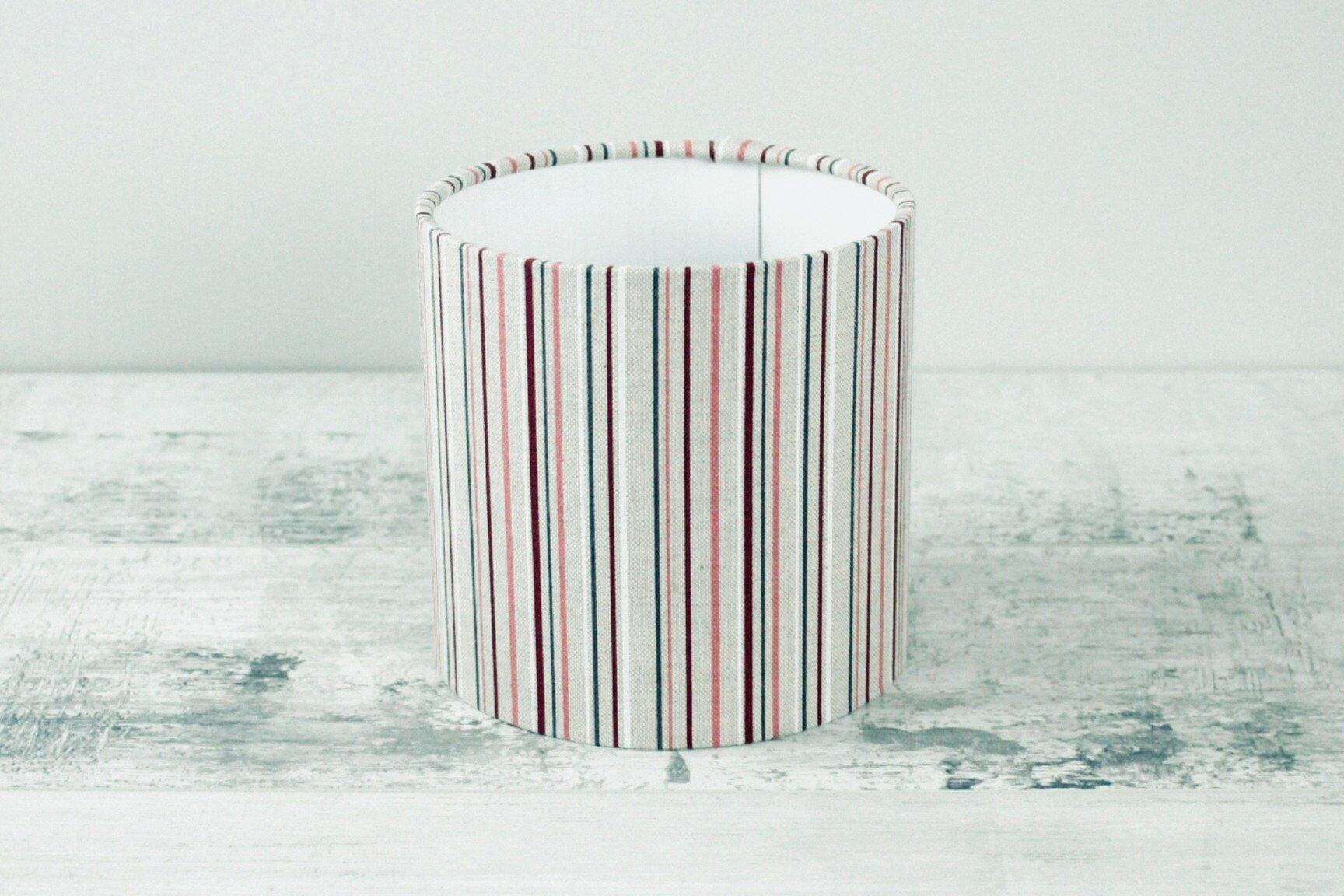 15cm Lampshade - Linen Multi Stripe