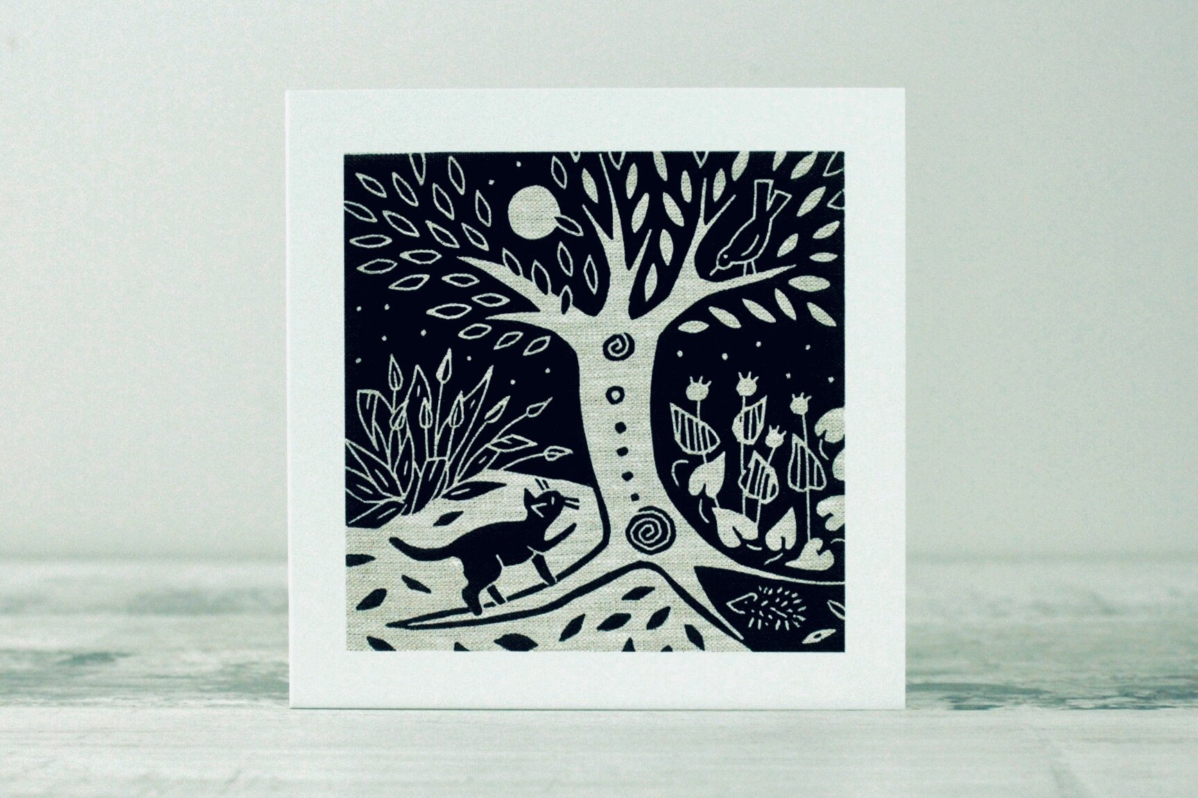 Night Garden Card by Algan Arts