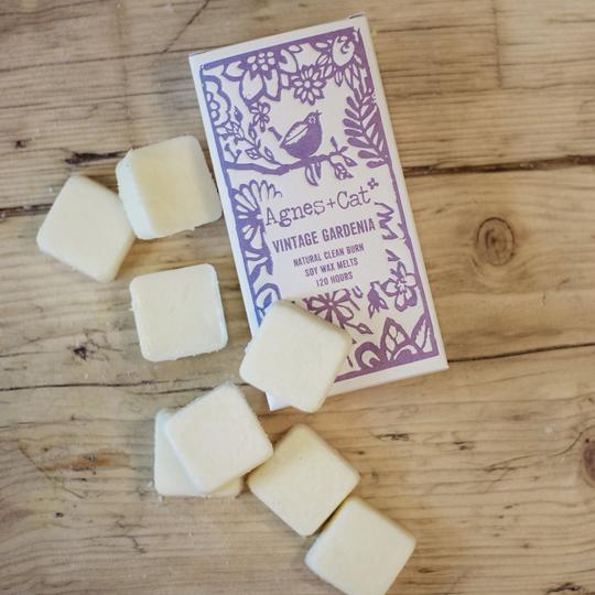 Vintage Gardenia Wax Melts by Agnes and Cat