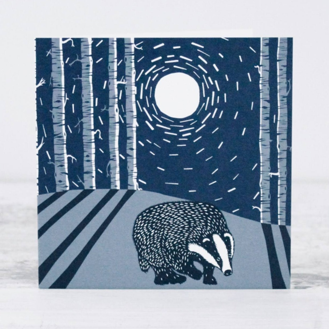Badger Card by Folded Forest
