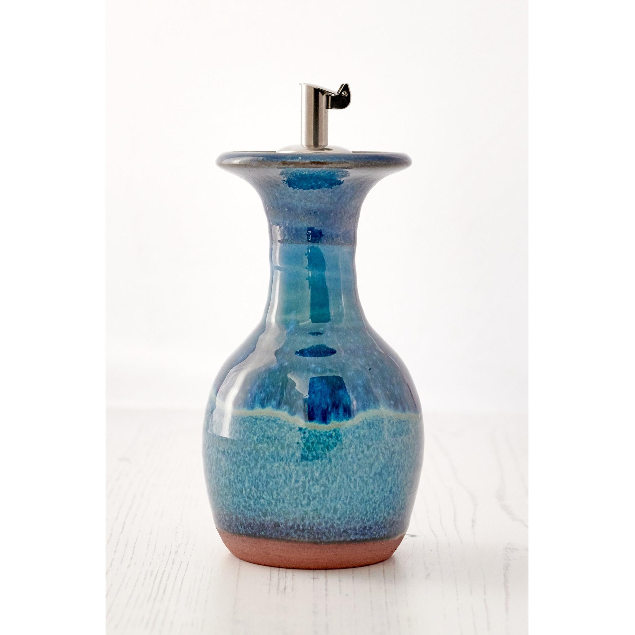 Aqua Marine Oil Decanter by Rupert Blamire