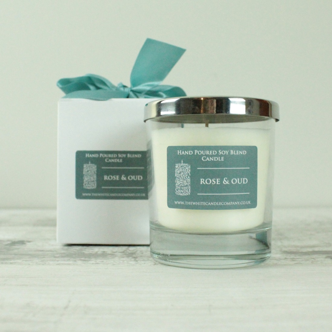 Rose & Oud Scented Candle - 50hrs