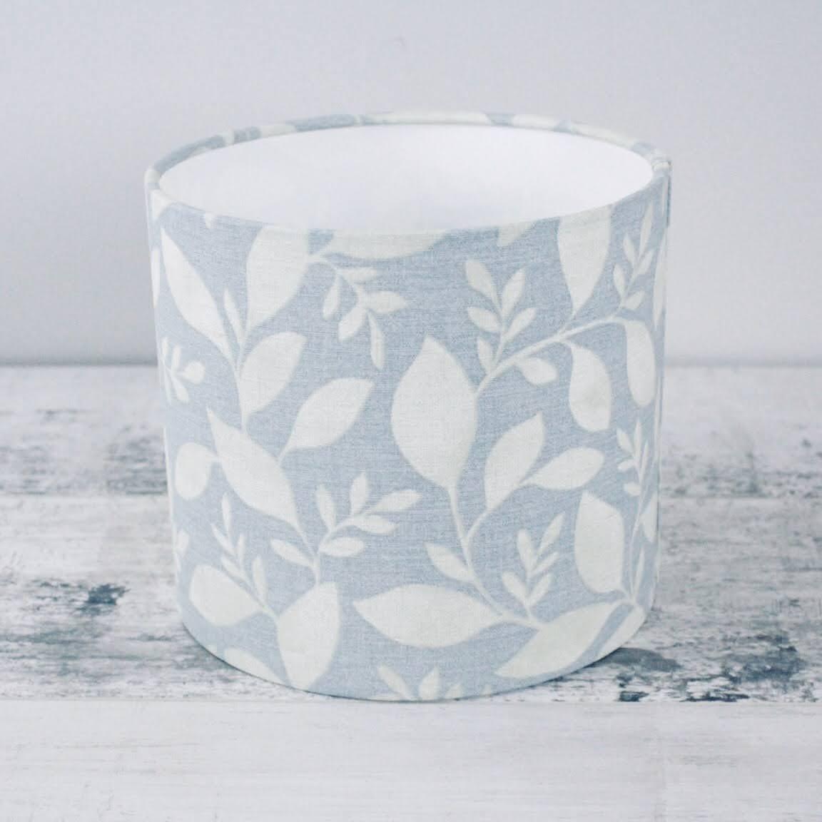 Leaves Seafoam - 20cm Fabric Lampshade