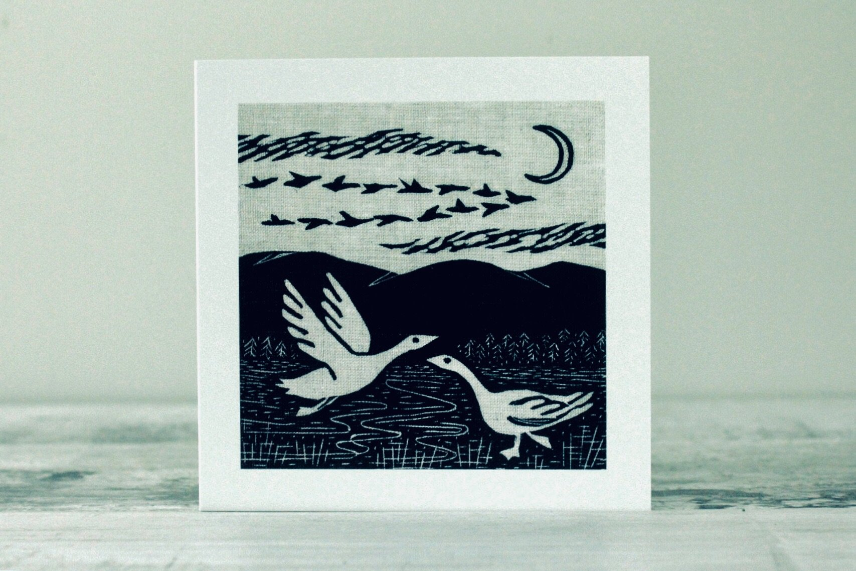 Wild Geese Card by Algan Arts