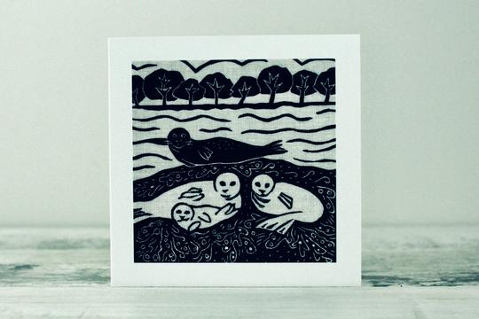 Seal Island Card by Algan Arts