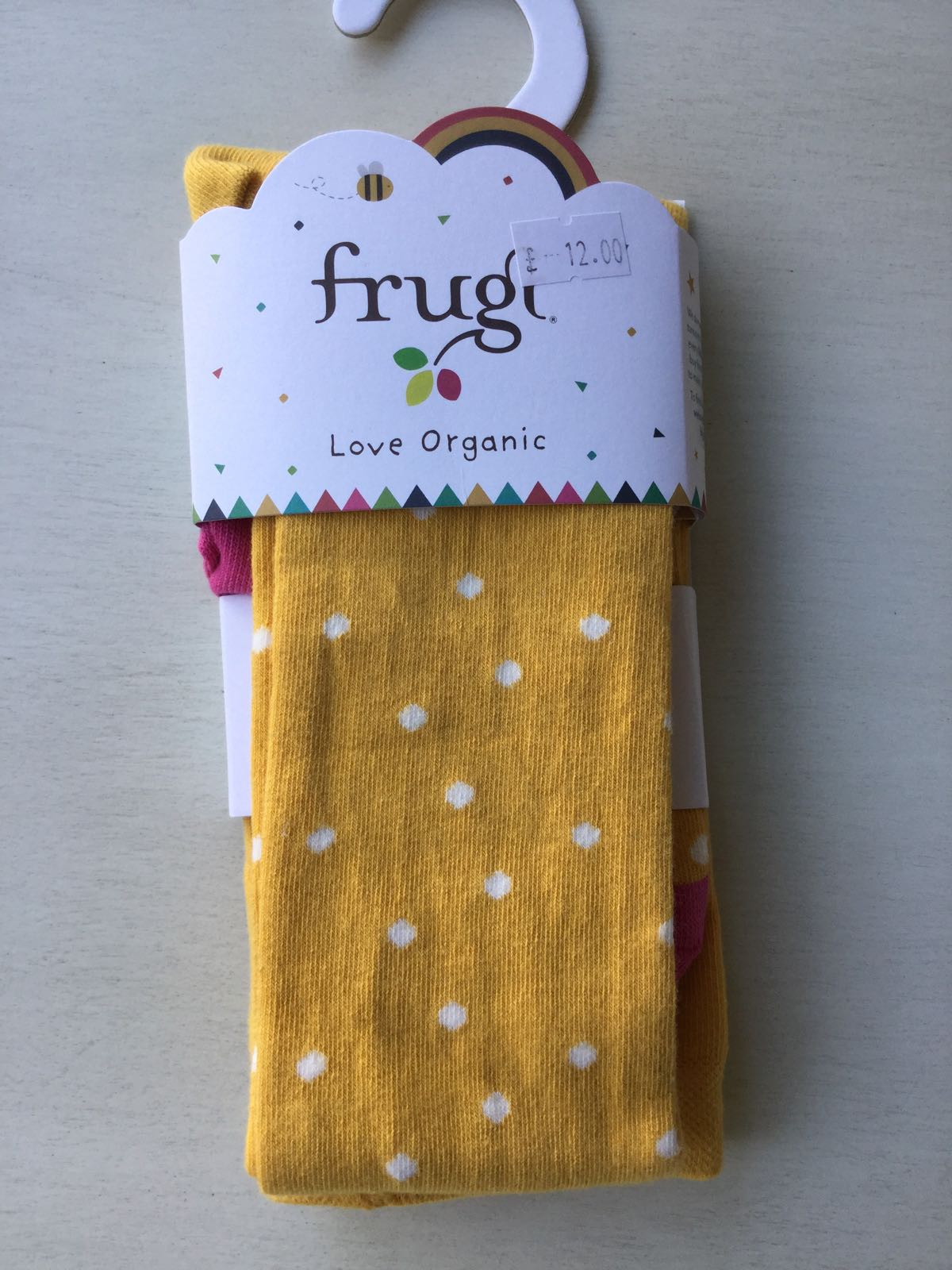 Frugi - Bumble bee spot - tights - 6-8 years