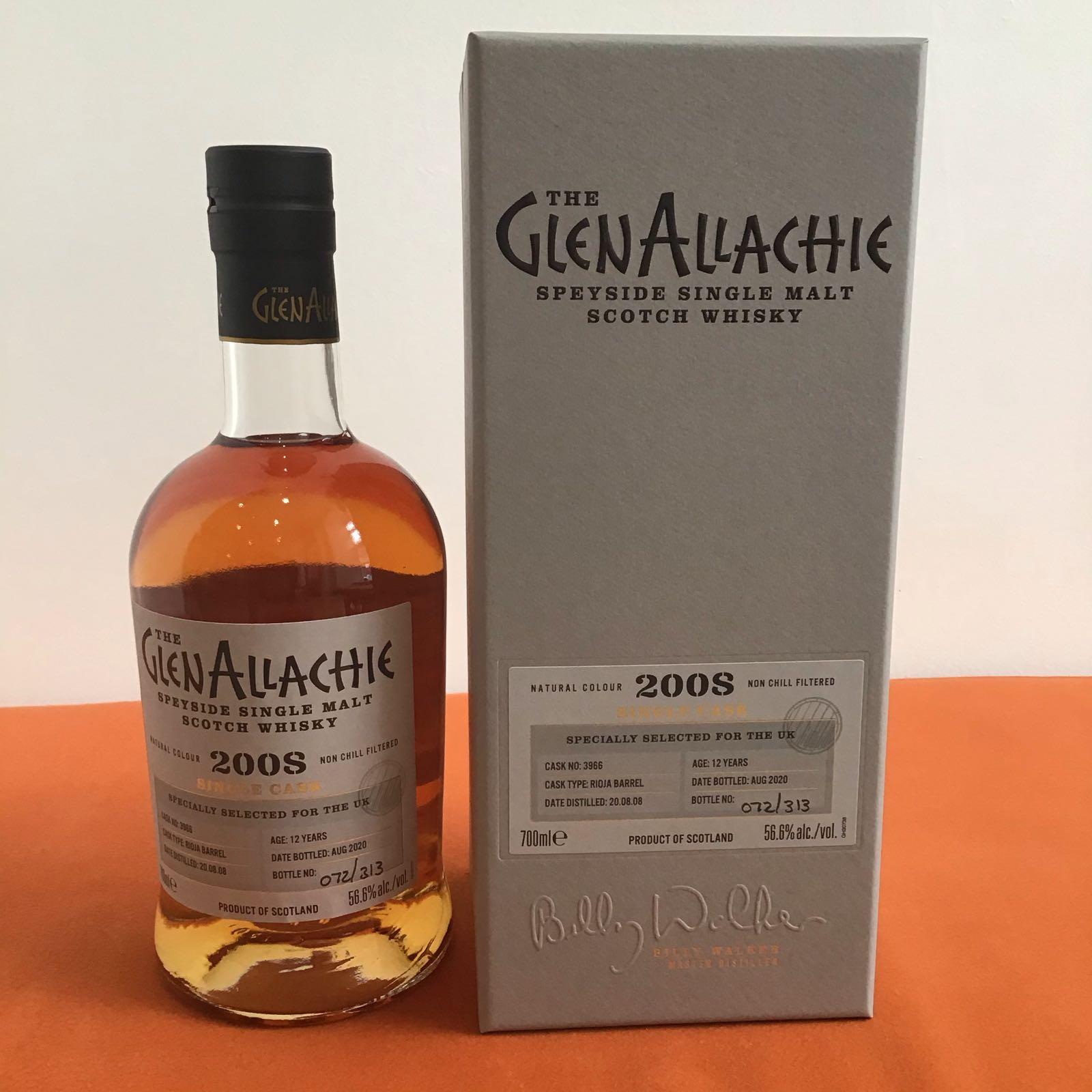 GlenAllachie Single Cask / Rioja Barrel  / 12 Years Old / Cask #3966
