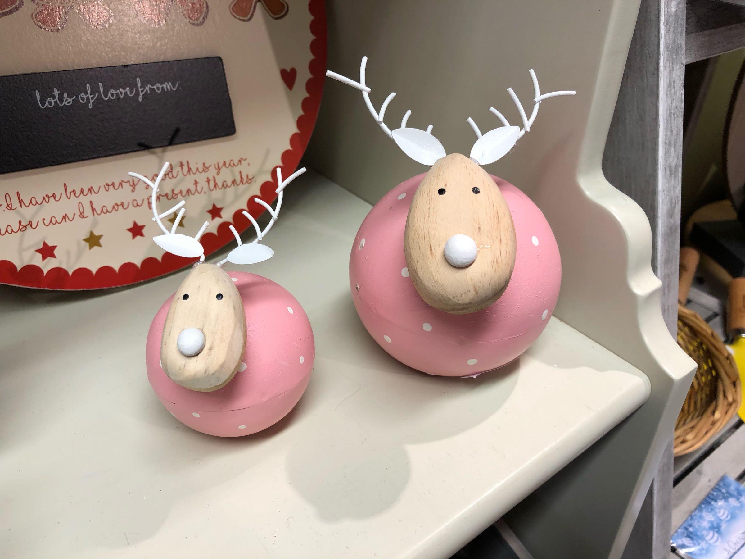 Pink round reindeer