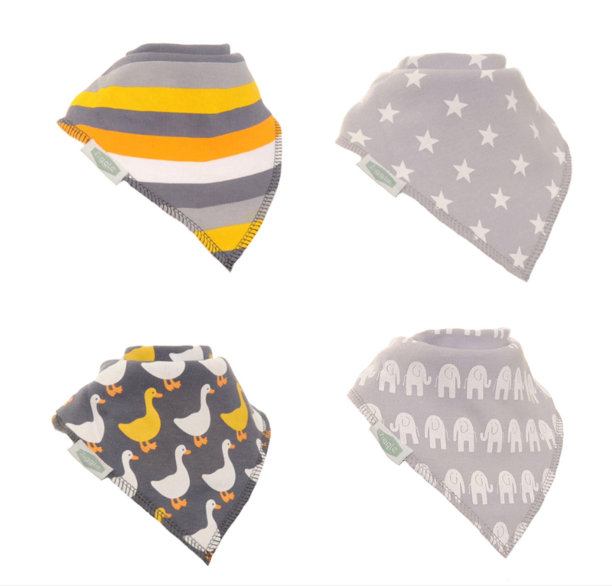 Grey bandana bib set