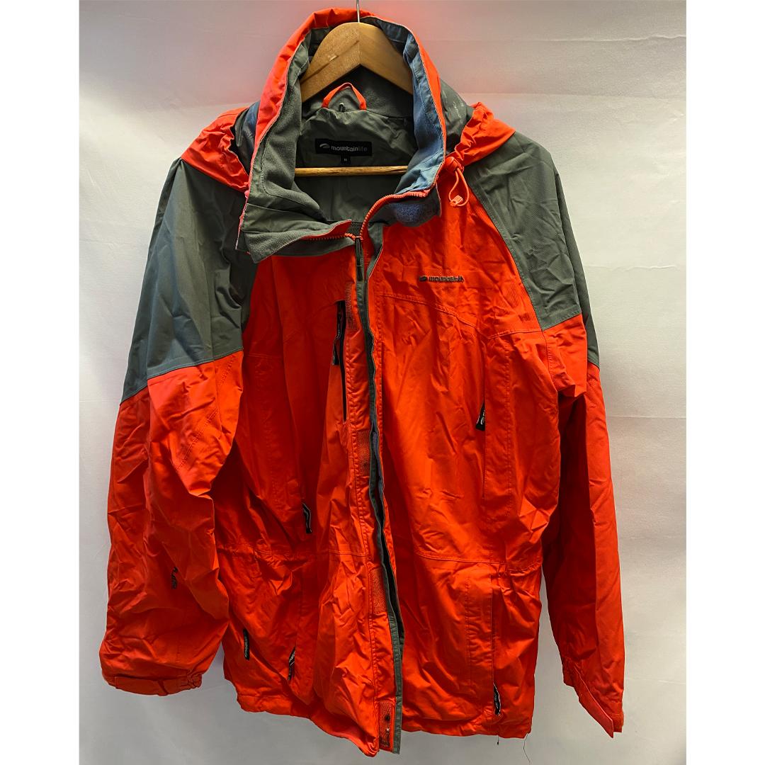 Mountain Life Size XL Orange Waterproof Coat