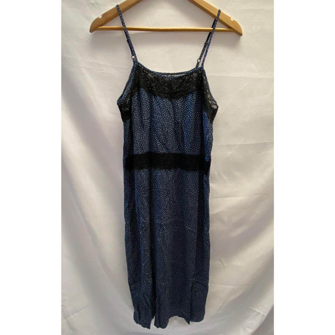 Blue & White Polka Dot Dress Size S