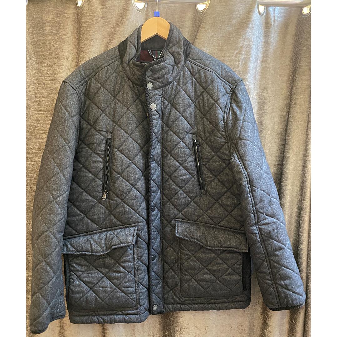 Maine Grey Padded Coat - Size Large