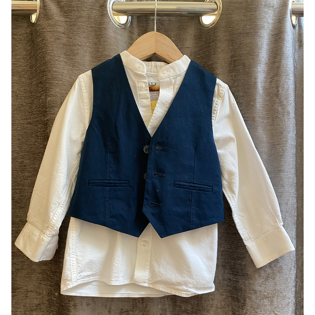 Boys Shirt and Waistcoat - Size 3-4 years