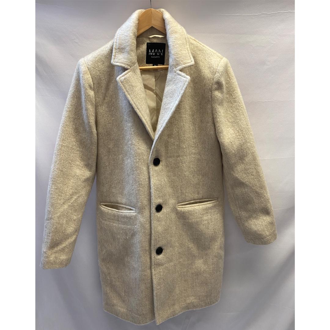 Boohoo Man Cream Coat Size M