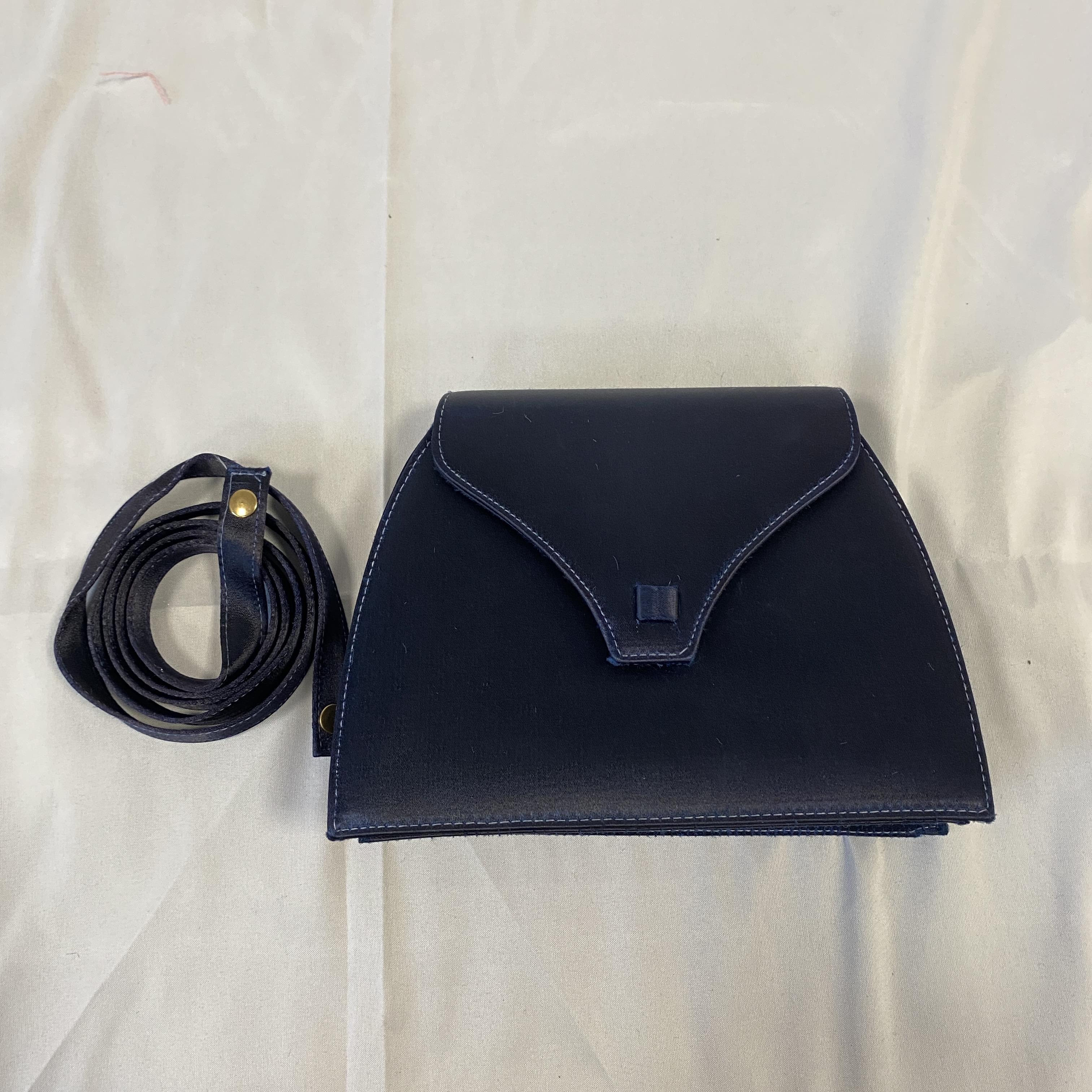 Ivory Bond Street Navy Clutch Bag