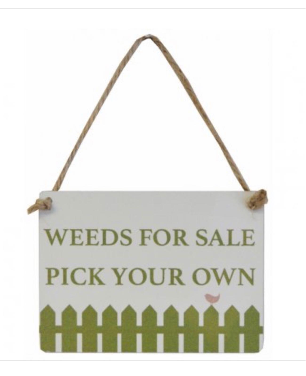 Weeds For Sale Hanger