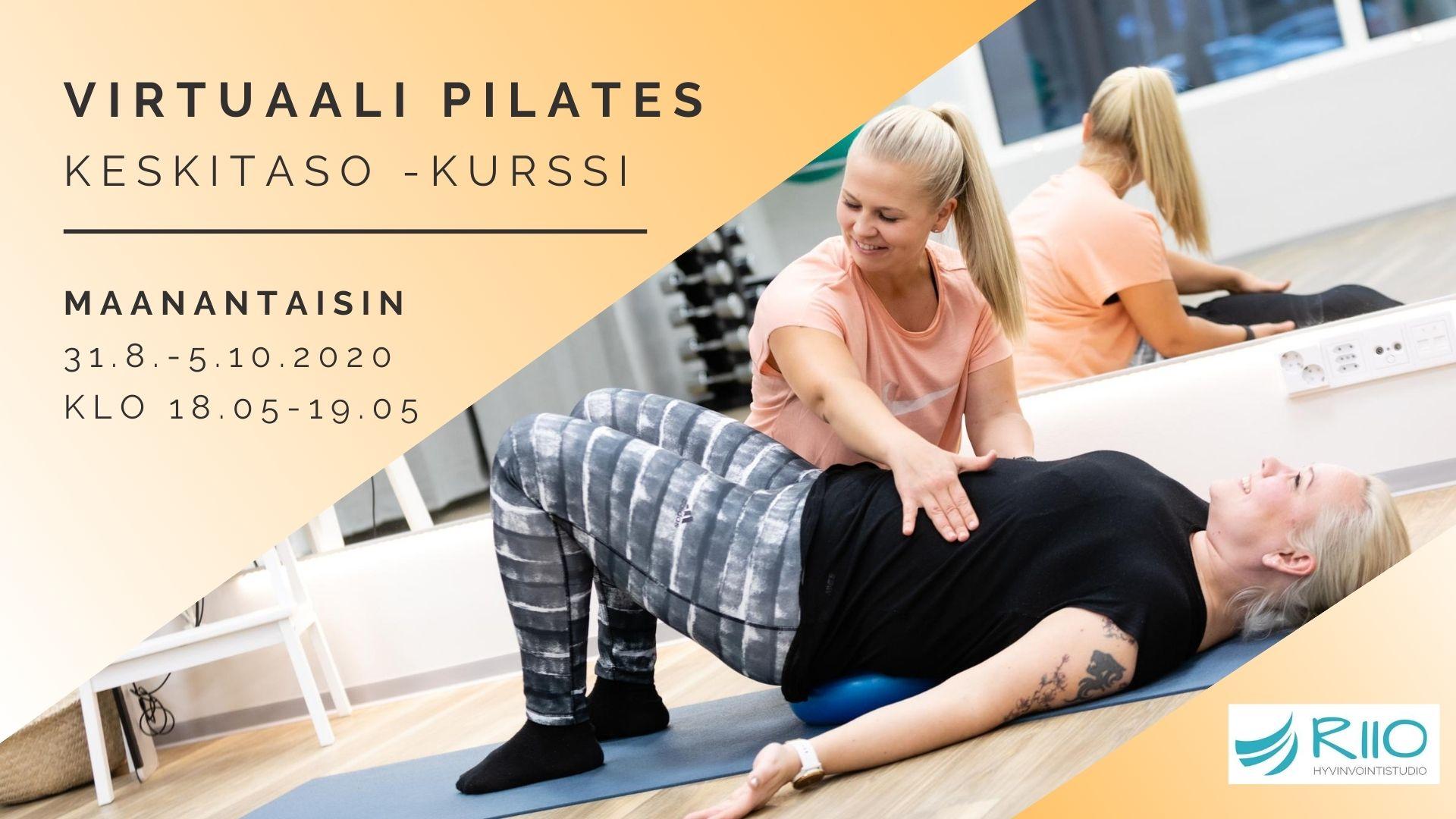 Kertamaksu: Virtuaali Pilates 5.10.2020