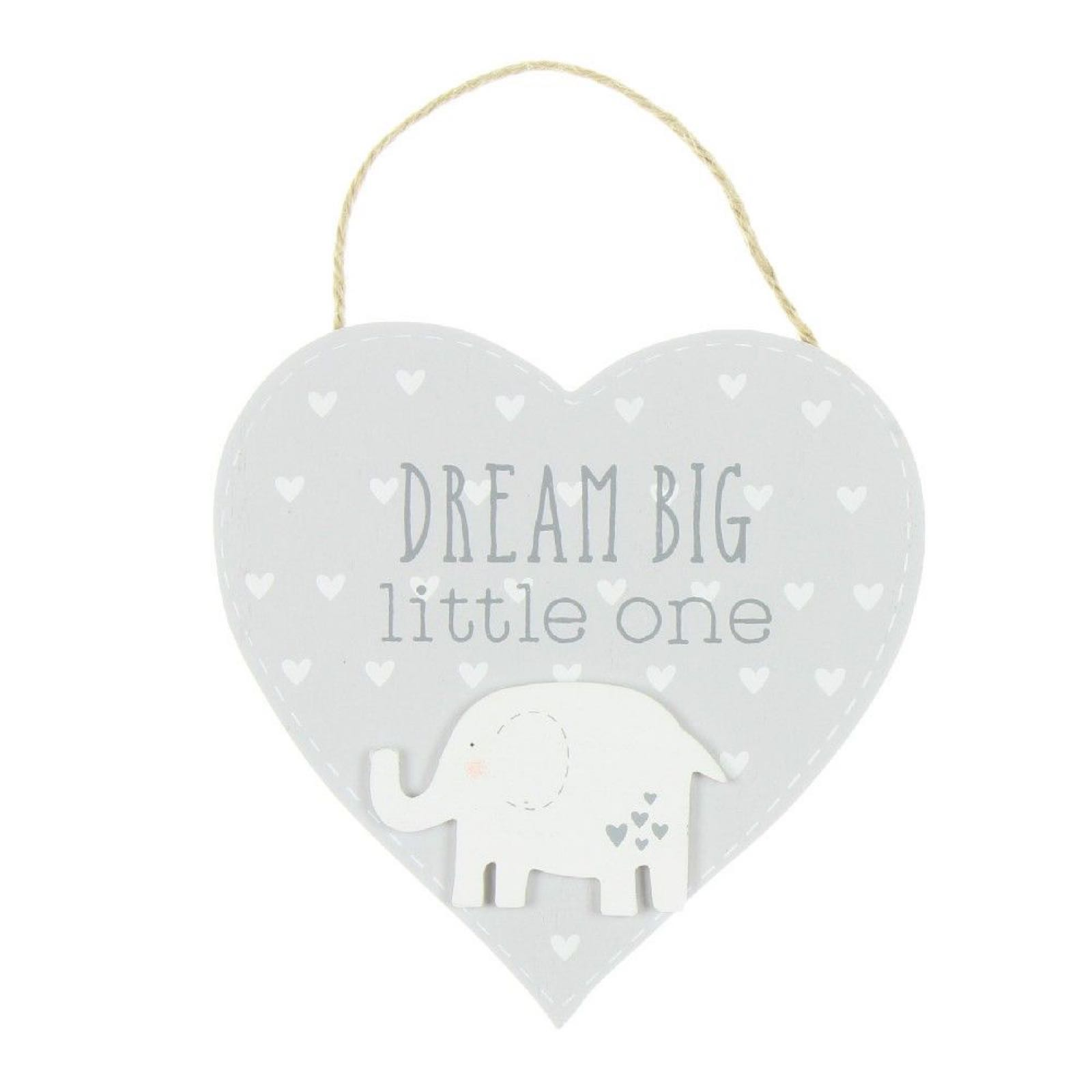 Dream Big Heart Plaque