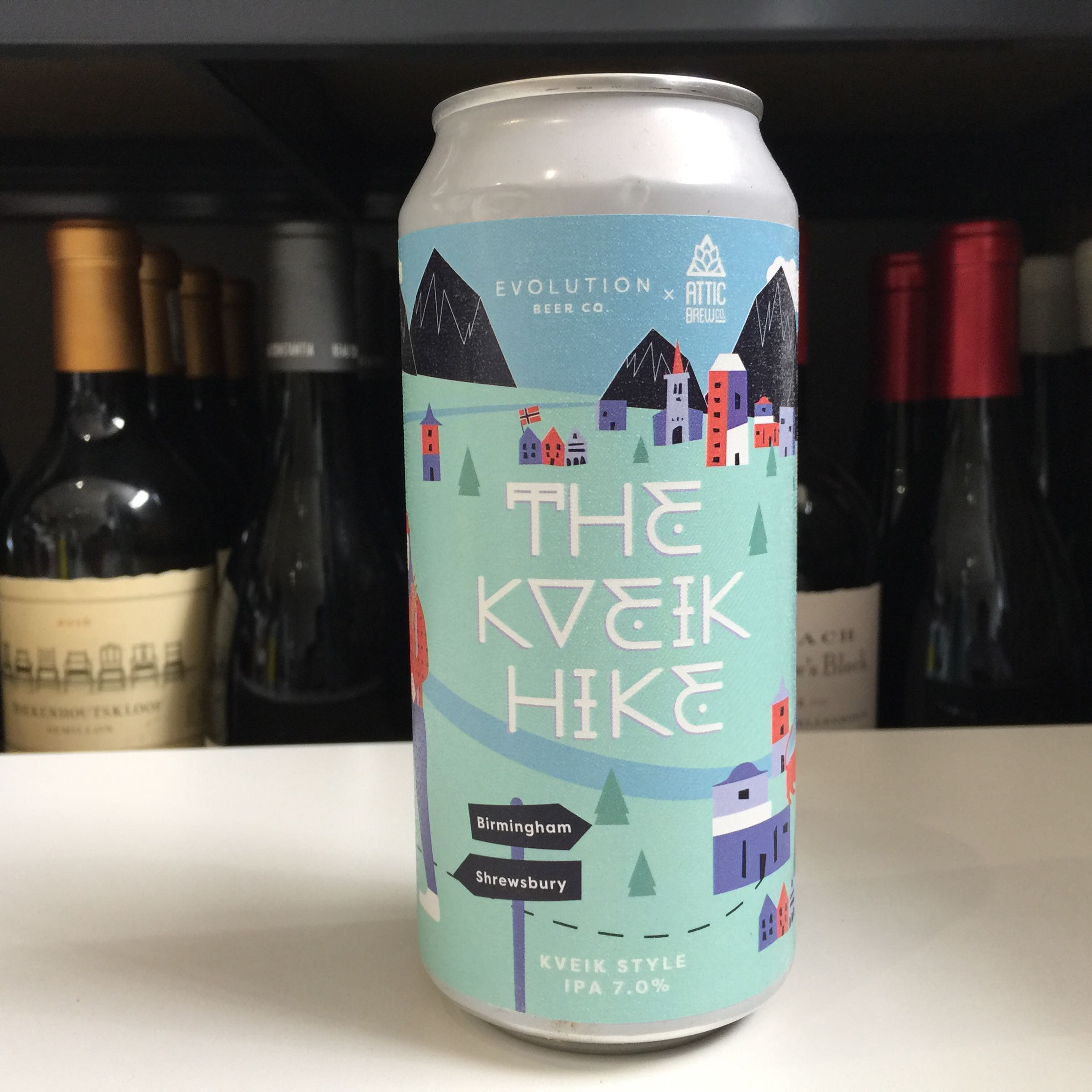 Evolution Beer 'The Kveik Hike' IPA 440ml 7% ABV