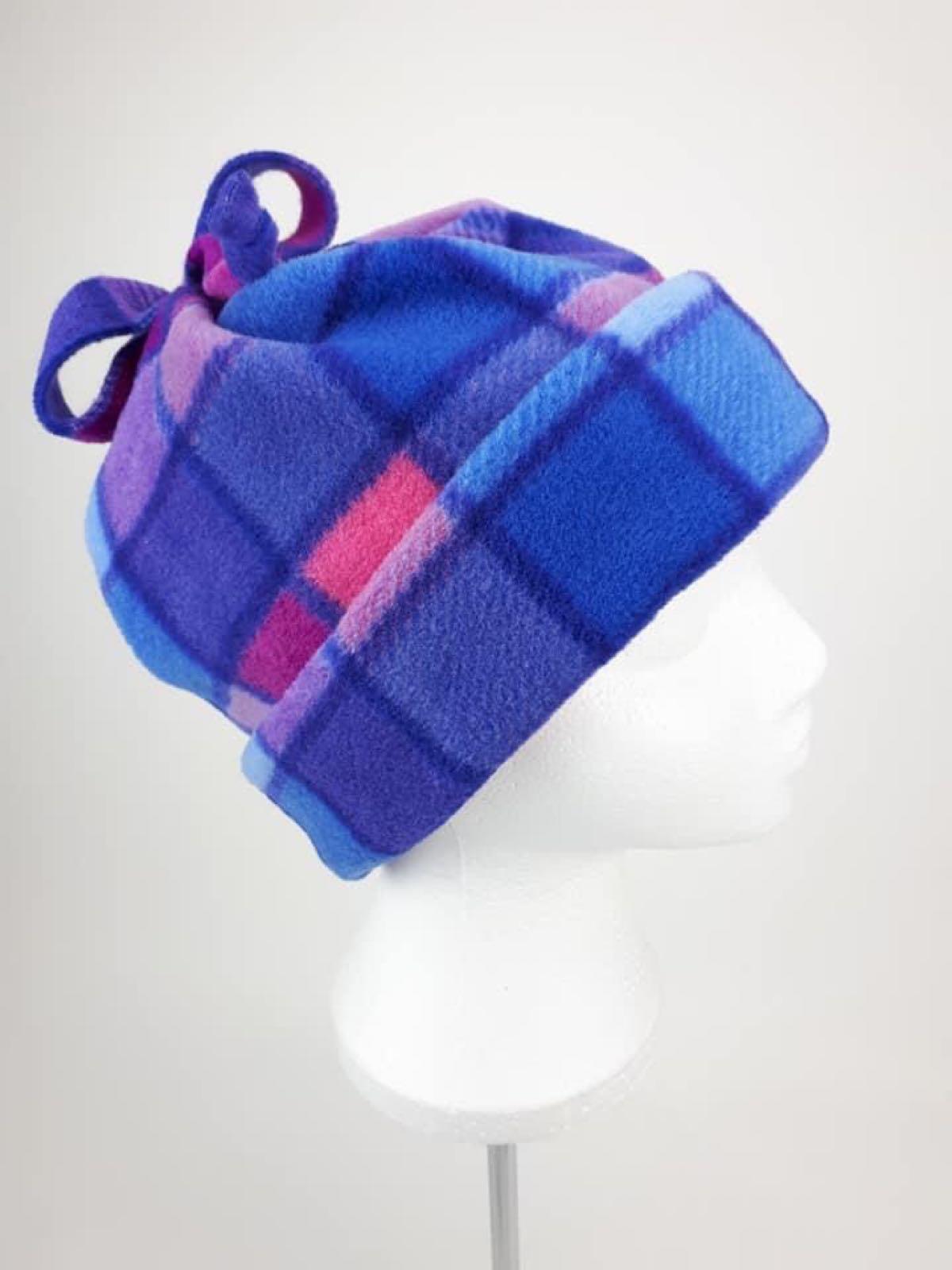 Pink Squares Hat