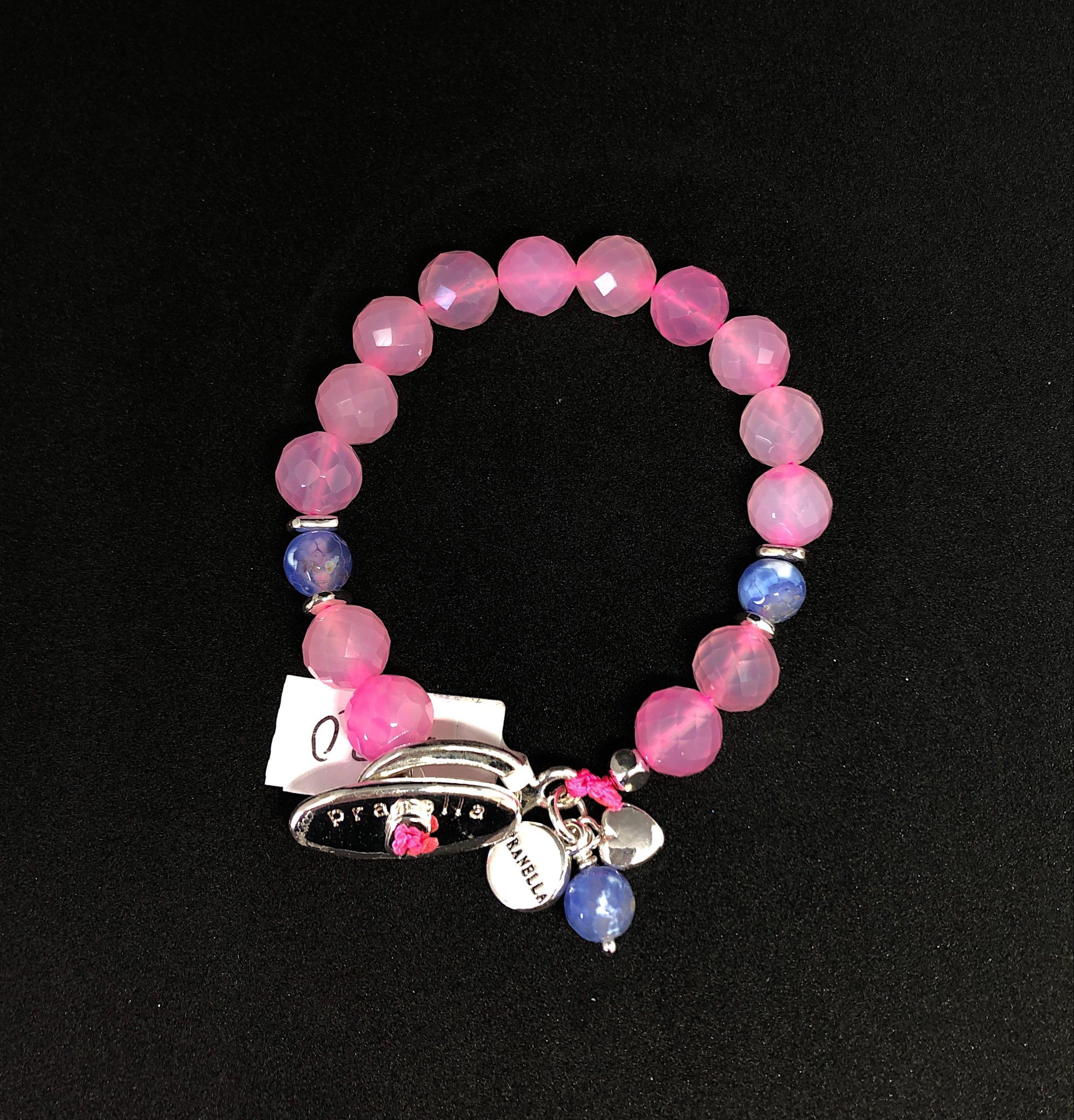 Pranella iris hot pink knot bracelet £20
