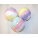 Bath bomb in rainbow colors 7,2cm á 180g