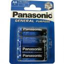 Batteri Panasonic R6 Mignon AA 4 Pack