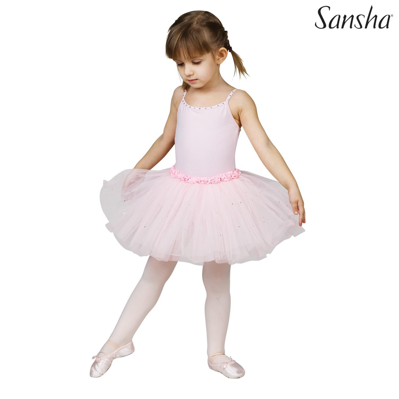 Sansha, lasten vaaleanpunainen Fawn tyllibalettipuku