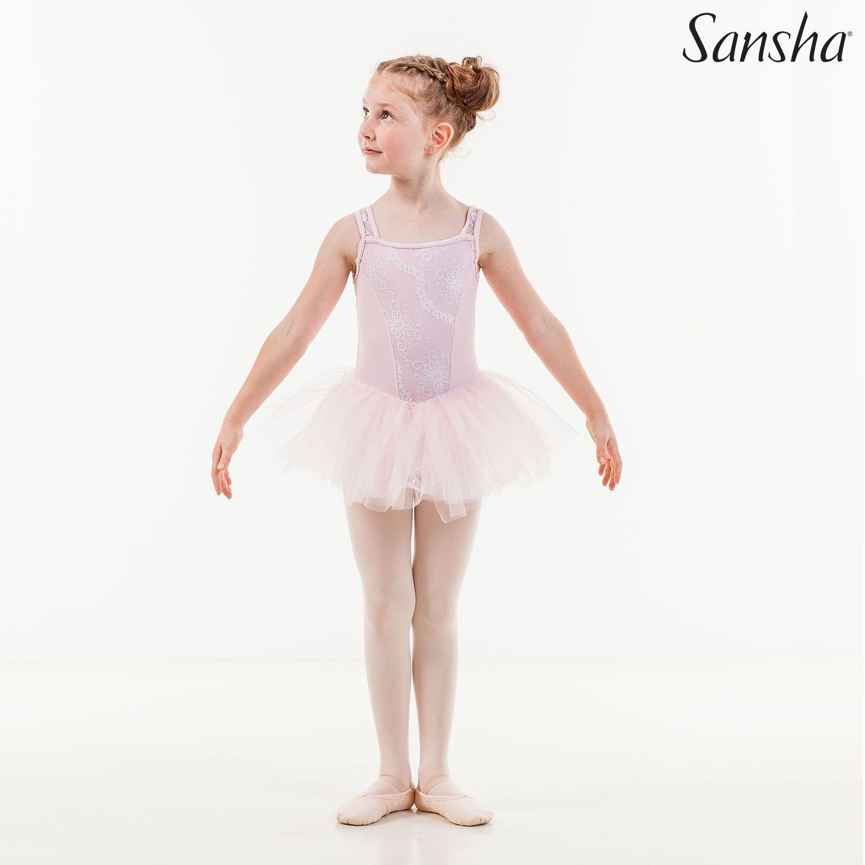 Sansha, lasten vaaleanpunainen Flaurine balettiasu