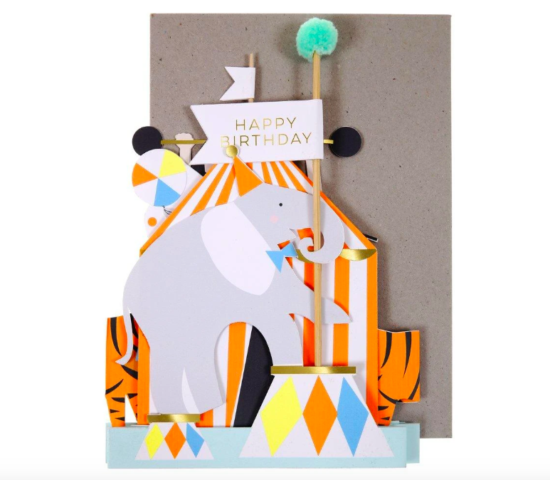 Meri Meri, taitettava sirkus -kortti